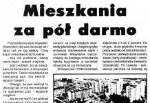Mieszkania za pół darmo // M. S. // Kurier Gdyński. - 1992, nr 1, s. 2