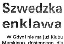 Szwedzka enklawa / (AS) // Kurier Gdyński. - 1992, nr 1, s. 3