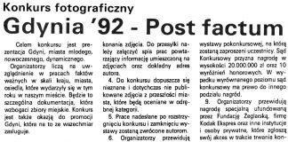 Gdynia '92 - Post factum. Konkurs fotograficzny // Kurier Gdyński. - 1992, nr 1 s. 4