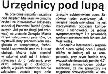 Urzędnicy pod lupą / Joanna Grejler // Kurier Gdyński. - 1992, nr 1, s. 4