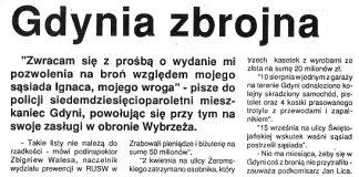 Gdynia zbrojna / K.W. // Kurier Gdyński. - 1992, nr 1, s. 5. - Il.