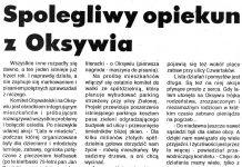 Spolegliwy opiekun z Oksywia / M.S. // Kurier Gdyński. - 1992, nr 1, s. 6