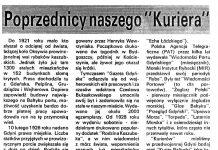 """Poprzednicy naszego """"Kuriera"""" / Roman Repeć // Kurier Gdyński. - 1992, nr 1, s. 7"""