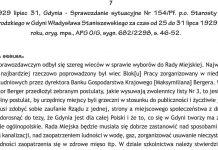 1929 lipiec 31, Gdynia - Sprawozdanie sytuacyjne Nr 154/Pf. p.o Starosty Grodzkiego w Gdyni Władysława Staniszewskiego za czas od 25 do 31 lipca 1929 roku, oryg. mps., APG O/G, sygn. 682/2298, s. 46-52