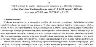 1929 wrzesień 2, Gdynia - Sprawozdanie sytuacyjne p.o. Starosty Grodzkiego w Gdyni Władysława Staniszewskiego za czas od 18 do 31 sierpnia 1929 roku, oryg. mps. APG O/G, sygn. 682/2298, s. 71-76