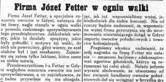 Firma Józef Fetter w ogniu walki // Nowa Epoka. - 1933, nr 6/8, s. 4