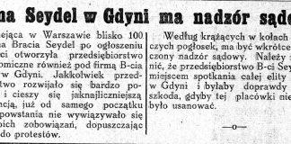 Firma Seydel w Gdyni ma nadzór sądowy // Nowa Epoka. - 1933, nr 6/8, s. 4