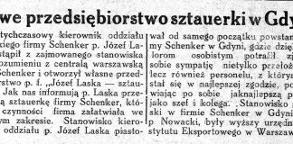 Nowe przedsiębiorstwo sztauerki w Gdyni // Nowa Epoka. - 1933, nr 6/8, s. 4