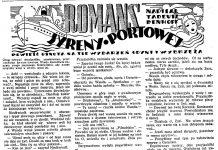 Romans syreny portowej / Tadeusz Denhoff // Dzień Dobry. - 1938, nr 33, s. 11