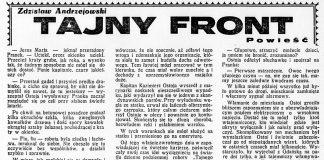 Tajny front / Zdzisław Andrzejewski // Dzień Dobry. - 1932, nr 163, s. 5