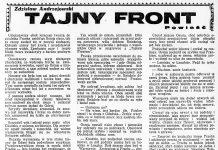Tajny front / Zdzisław Andrzejewski // Dzień Dobry. - 1932, nr 164, s. 5