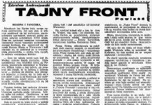 Tajny front / Zdzisław Andrzejewski // Dzień Dobry. - 1932, nr 166, s. 5