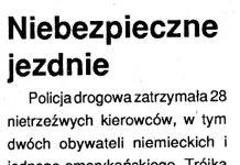 Niebezpieczne jezdnie // Kurier Gdyński. - 1992, nr 1, s. 5