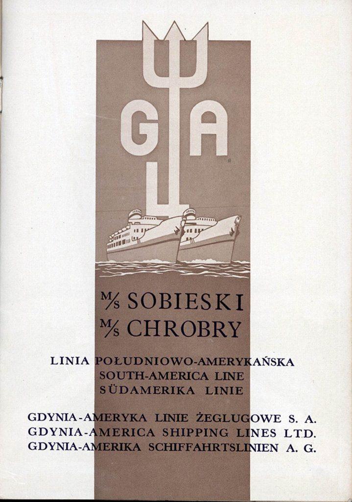 M/S SOBIESKI  M/S CHROBRY Linia południowo-amerykańska Gdynia - Ameryka Linie Żeglugowe S.A.