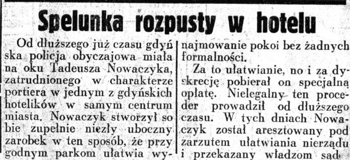 Spelunka rozpusty w hotelu // Dziennik Ilustrowany. - 1937