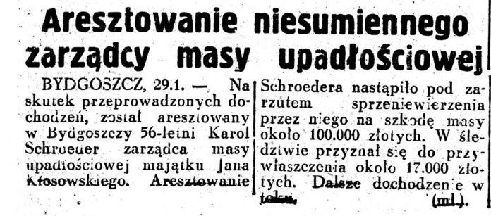 Aresztowanie niesumiennego syndyka masy upadłościowej / Dziennik Ilustrowany 1937