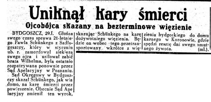 Uniknął kary śmierci. Ojcobójca / Dziennik Ilustrowany 1937, nr 30, s. 3