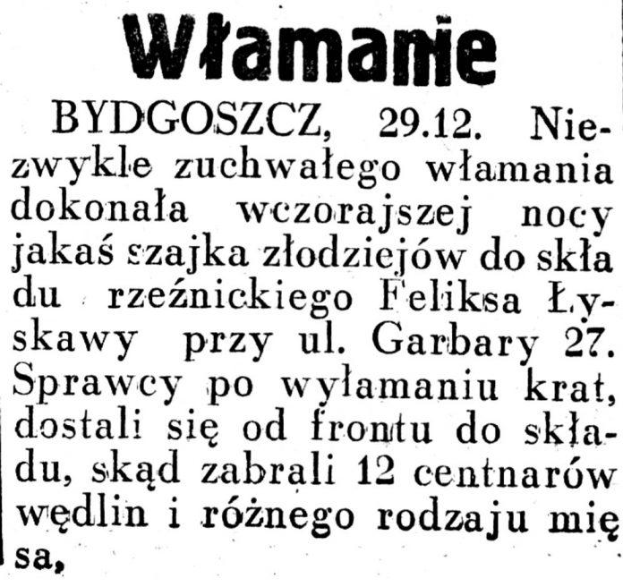 Włamanie // Dziennik Ilustrowany. - 1936, nr 44, s. 3