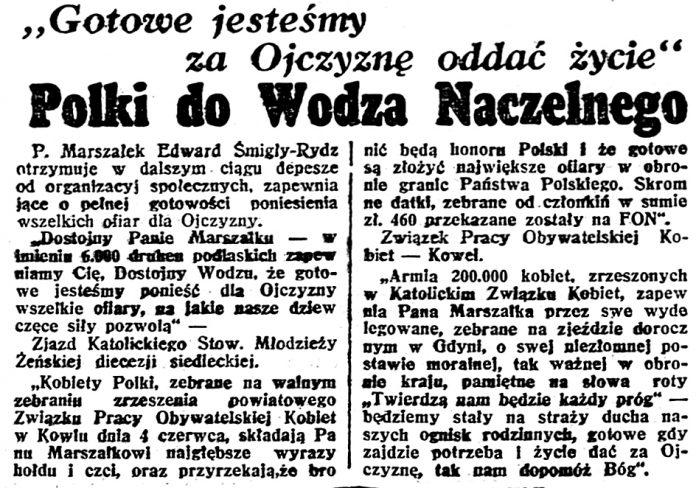 Polski do Wodza Naczelnego