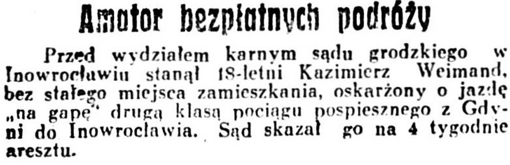 Amator bezpłatnych podróży / 1934_82_3_Dziennik-Poznański