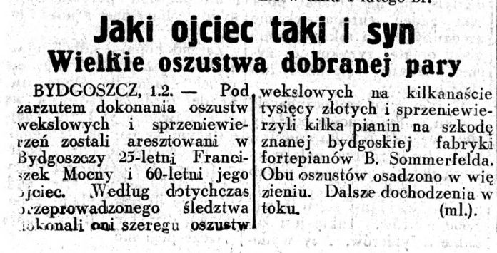 Jaki ojciec taki i syn. Wielkie oszustwa dobranej pary // Dziennik Ilustrowany. - 1937, nr 2, s. 3