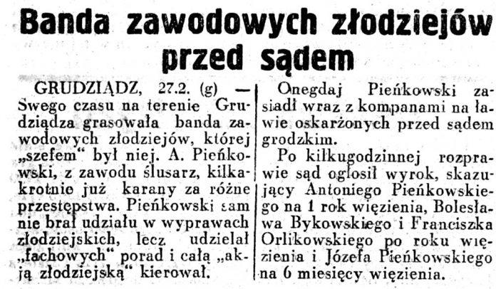 Banda zawodowych złodziejów przed sądem // Dziennik-Ilustrowany-1937,-nr-58,-s.3