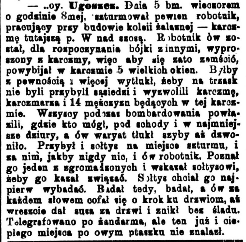 [Dnia 5 bm. wieczorem o godzinie 8mej ...] // Gazeta Grudziądzka. - 1898, nr 136, s. 4