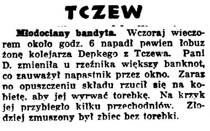 Młodociany bandyta Gazeta-Bydgoska-1933-nr-28-s.-9