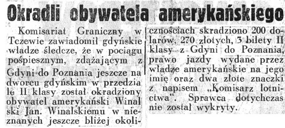 Okradli obywatela amerykańskiego Dziennik-Ilustrowany-1937,-nr-46,-s