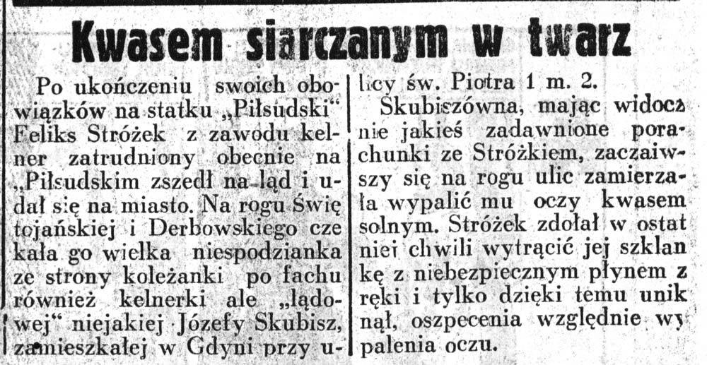Kwasem siarczanym w twarz Dziennik-Ilustrowany-1937,-nr-46,-s