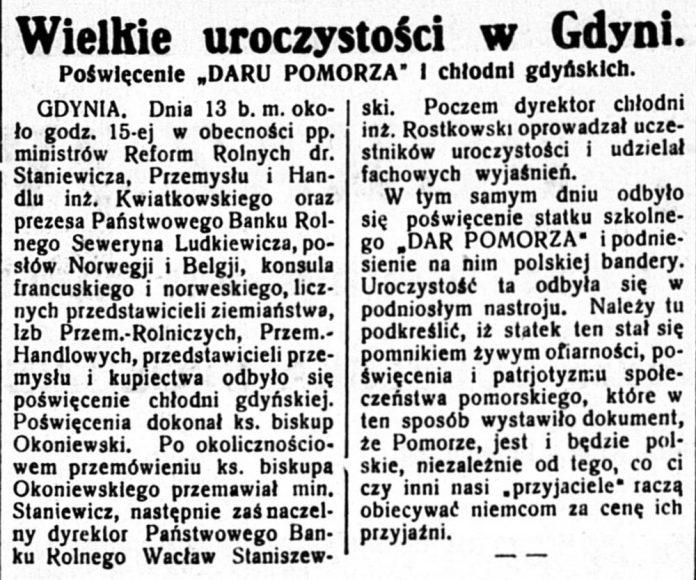 Wielkie uroczystości w Gdyni. Poświęcenie