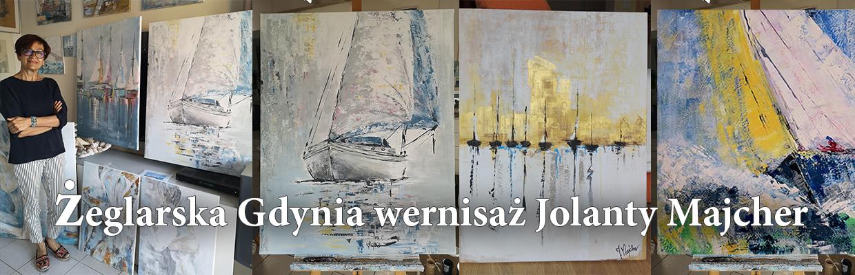 Żeglarska Gdynia wernisaż Jolanty Majcher