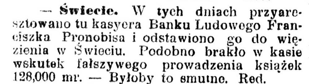 W tych dniach przyaresztowano // Gazeta Grudziądzka [brak-danych]