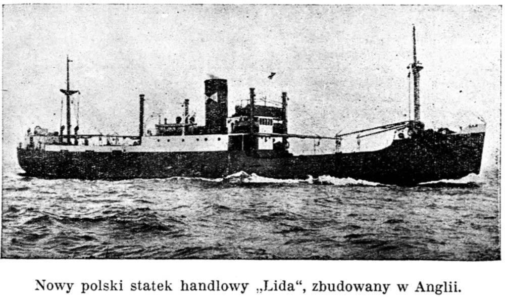"""Nowy polski statek handlowy """"Lida"""", zbudowany w Anglii // Gazeta Kartuska. - 1938, nr 132, s. 3"""