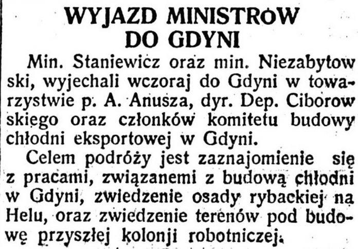 Wyjazd ministrów do Gdyni // Polska Zbrojna. - 1929, nr 347, s. 1