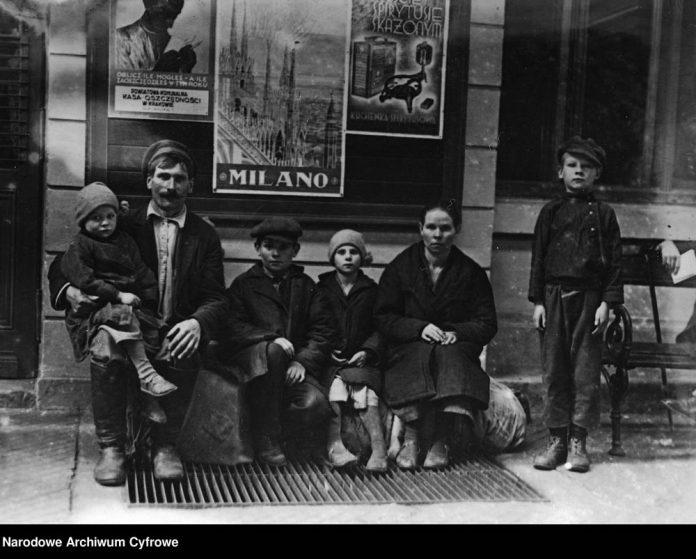 Polski emigrant z rodziną w Krakowie