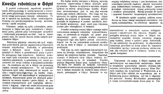Kwestja robotnicza w Gdyni Pomorzanin-1928,-nr-102,-s