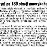 Z Gdyni na 180 stacji amerykańskich // Dziennik Poznański. – 1939, nr 192, s. 3