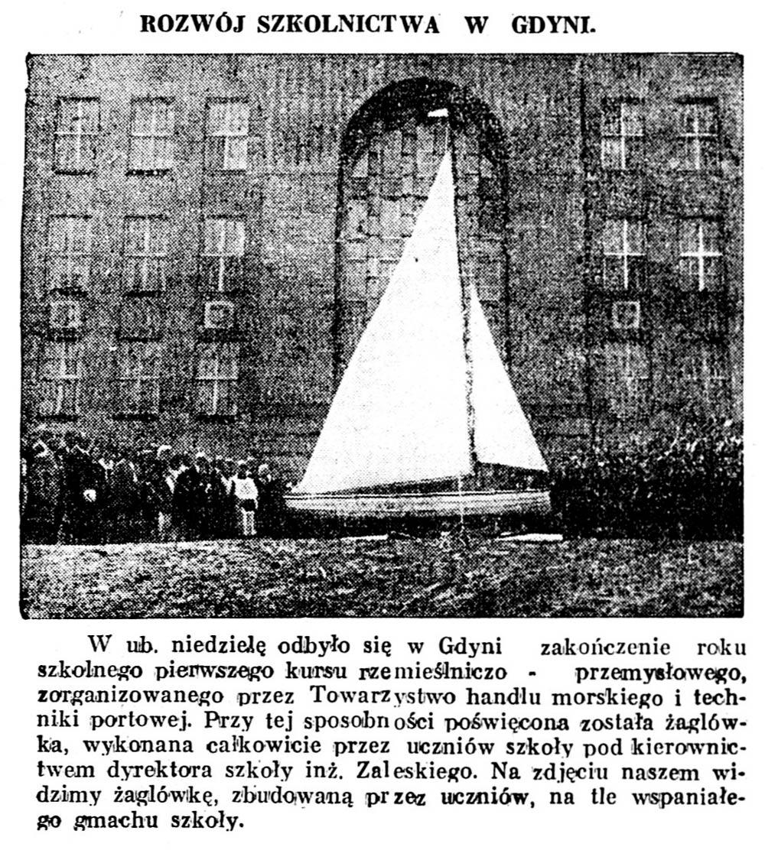 Rozwój szkolnictwa w Gdyni // Głos Poranny. - 1932, nr 183, s. 4