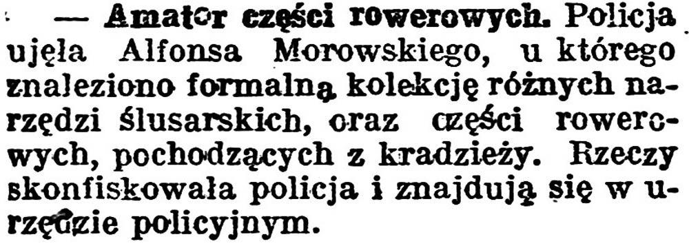 Amator części rowerowych // Gazeta Pomorska. - 1924, nr 31, s. 5