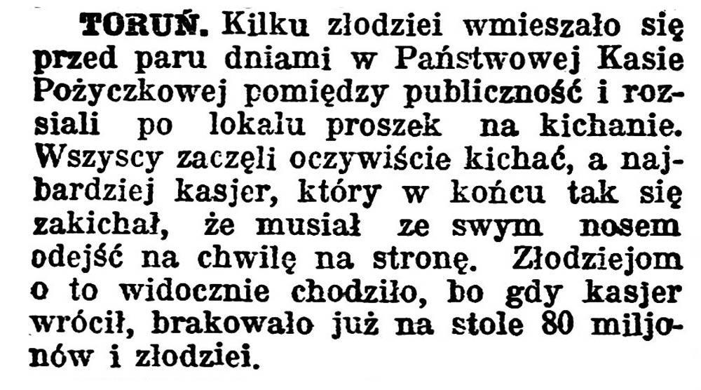 Toruń // Gazeta Pomorska. - 1924, nr 31, s. 5